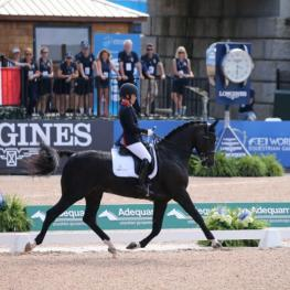 Sophie Wells and C Fatal Attraction took Gold in the Grade V Para Dressage. (Photo: ©Sportfot)