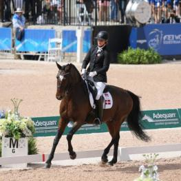 Susanne Jensby Sunesen and CSK's Que Faire  Bronze Medal in the Grade IV Para Dressage. (Photo: ©Sportfot)