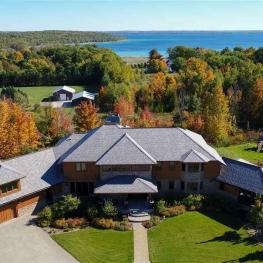 Arial View house 3888 Swaney Rd, Traverse City, MI