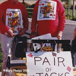 A Pair of Jack - Jack Fritz and Jack Burton 1998 - In the days when we had golf cart costume parties with the officials