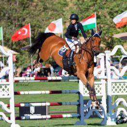 Carly Anthony Aboard Chacco Carly Anthony and Chacco, owned by Neil Jones Equestrian, Inc., topped the field in the $25,000 Markel Insurance Grand Prix during the Blenheim June Classic I ©Amy McCool