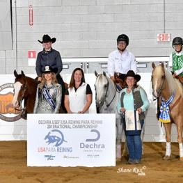 Dechra Veterinary Products proudly sponsors the USEF/USA Reining's Para Reining National Championship. (Photo: Shane Rux)