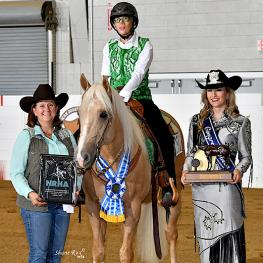Grade 4 winner Holly Jacobson and Shiney Juice also earned 2019 Dechra USEF/USA Para Reining Reserve National honors. (Photo: Shane Rux)