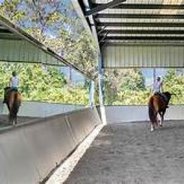 7_Covered Arena_with mirrors_2121 Dressage Cove_Chuuota, FL  32766