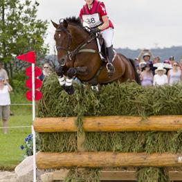 Defending Pan Am Champions Jessica Phoenix, 31, of Cannington, ON, and Pavarotti are sitting third following cross-country. (Photo: © Cealy Tetley)