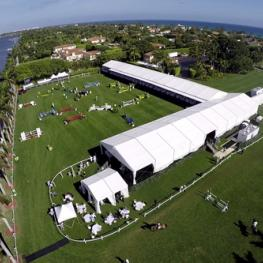 A beautiful aerial photo of The Mar-a-Lago Club during Sunday's Grand Prix. Photo © Sportfot, us.sportfot.com.