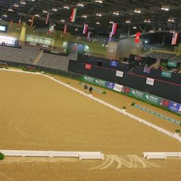 The lavishly-decorated Alltech Arena awaits competitiors for the 2014 US Dressage Finals presented by Adequan.