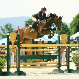 Amanda Flint topped the $10,000 Sir Ruly, Inc., Open Jumper Awards, to claim a $5,000 bonus at the 2014 Vermont Summer Festival in East Dorset, VT. Photo by David Mullinix Photography