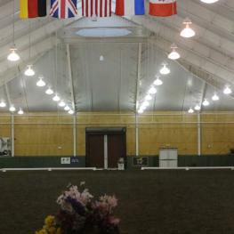 The world class indoor at the Equestrian Center at Pineland Farm.