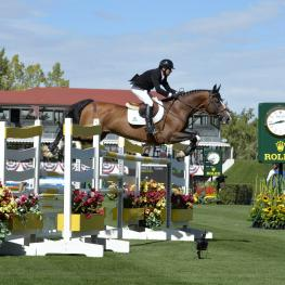 "Canadian rider Eric Lamaze who has already qualified for the ""CP 'International', presented by Rolex"" on Sunday"