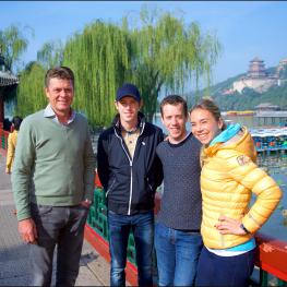 Jeroen Dubbeldam, Scott Brash, Maikel van der Vleuten and Jane Richard Philips at the Summer Palast in Beijing