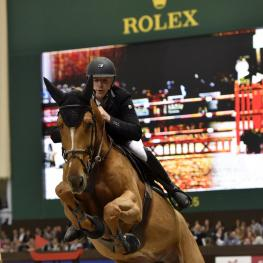"Roger Yves Bost, winner of two qualifiers for the ""Rolex Grand Prix"" at the CHI Geneva 2015"