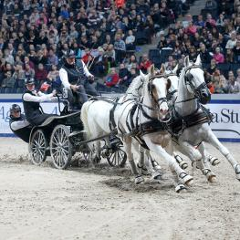 Dutchman IJsbrand Chardon won the third FEI World Cup™ Driving leg yesterday at the Swedish International Horse Show in Stockholm