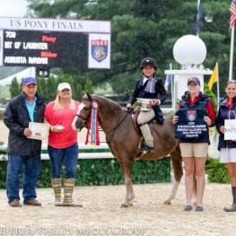 August Iwasaki and Bit of Laughter, pony finals 2015