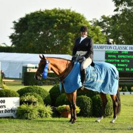 Bridgehampton's Laura Bowery won the $10,000 Marders Local Hunter Derby with Catrine Golia's Royal Expectation, Sunday August 27 at the Hampton Classic Horse Show.