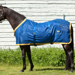 "Accuhorsemat, the revolutionary new equine acupressure blanket, is helping race horses by being a partner sponsor of the ""Hoedown at Hagyard""— an event held during the Rolex Kentucky Three-Day Event to benefit the Retired Racehorse Project"