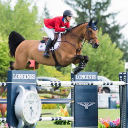 The spring-heeled mare Cristalline and her rider Adrienne Sternlicht helped secure victory and a slot at the series final for Team USA at the last qualifying leg of the FEI Nations Cup™ Jumping 2017 North America, Central America and Caribbean League in Langley, Canada.