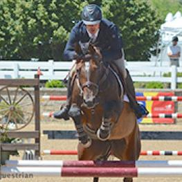 Andrew Kocher and Ciana top the $10,000 Welcome Stake (Photo: Chicago Equestrian)