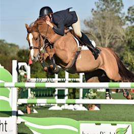Andy Kocher pilots Ciana to the win in the $10,000 Horseflight Open Welcome yesterday at the Gulf Coast Winter Classic