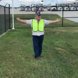 Awaiting with open arms, Anita Williamson, PEER executive director and leader of the rescue teams awaits the arrival of the equine athletes for the FEI World Equestrian Games Tryon 2018