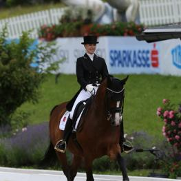 Anna Nolte (GER) Pentimento 1204 Hannoverian  by Prince Thatch X De Niro,  owned by Hofgut Rosenau and Anna Nolte