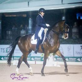 Ashley Holzer and Havanna 145 are unbeatable in week seven of the AGDF, topping the World Cup freestyle to music with 78.2%.