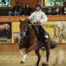 France's Axel Pesek and Uncle Sparky took the World Young Rider title in style