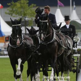 Boyd Exell wins  Prize of the Firma Horsch, Der Entsorger, a dressage competition for Four in Hand at Aachen