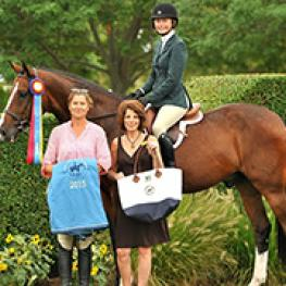 Brando and Chloe Hase tied for the Local Hunter Grand Championship at the Hampton Classic.