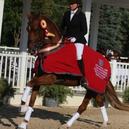 Brooke Voldbaek and Sonnenberg Farm's mare Generosa S, 4-year-old Reserve Champion at the Markel/USEF National Young Horse Championships