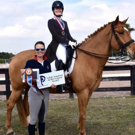Candace Platz won the Piaffe Performance Adult Amateur Achievement Award at the Adequan Global Dressage Festival