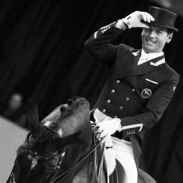 Carl Hester (GBR) rides Nip Tuck in The FEI World Cup™Dressage Final ll, Grand Prix Freestyle, April 1 2017