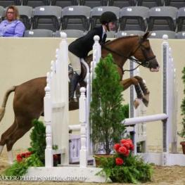 Caroline Passarelli and News Flash, pony finals 2016