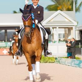Dr. Cesar Parra delivered outstanding performances aboard Don Cesar during weeks 10 and 11 of the Adequan Global Dressage Festival