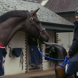 Charlotte Dujardin and her two Valegros!