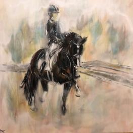Spectacular Autographed Painting of Charlotte Dujardin & Valegro to Feature in Silent Auction at 2018 NEDA Symposium