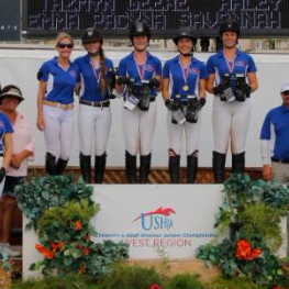 Children's Zone 10 Team 1 captured gold at the USHJA Children's Jumper West Regional Championships. (Photo: McCool Photography)