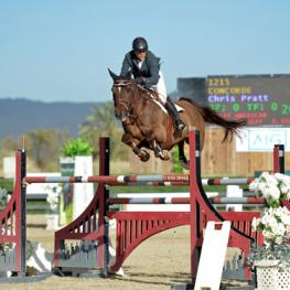 Chris Pratt and Concorde on their way to a $25,000 SmartPak Grand Prix win.
