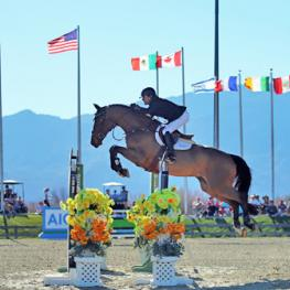 Chris Pratt and Edesa's Basantos on their way to a $350,000 HITS Thermal Grand Prix win.