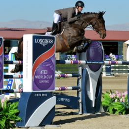 Christian Heineking and NKH Selena on their way to a $36,400 Desert Classic win.