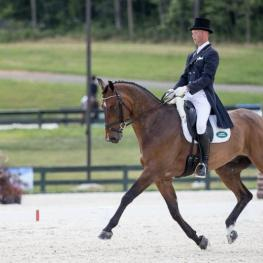Clark Montgomery and Loughan Glen Take the Lead During Dressage