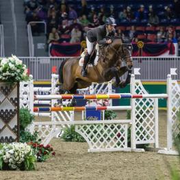 Daniel Bluman of Israel won the $35,000 International Jumper Power and Speed on Tuesday, November 7, to kick off international show jumping competition at the CSI4*-W Royal Horse Show in Toronto, ON.