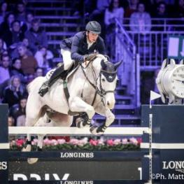 Daniel Deusser (GER) riding Cornet D'Amour during the Longines Grand Prix, Longines Masters Paris at Paris Nord Villepinte
