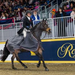 Darcy Hayes of Aurora, ON, rode Say When to a second consecutive victory in the $15,000 Braeburn Farms Hunter Derby for owner Danielle Trudell-Baran on Sunday, November 5, at the Royal Horse Show in Toronto, ON.