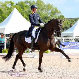 Endel Ots and Lucky Strike, strike success during the Gold Coast Dressage Association Finale.