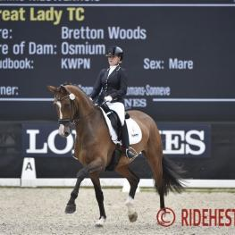 Great Lady TC, FEI/WBFSH Young Horse Championships