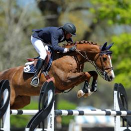 Harold Chopping and Basje on their way to a $30,000 HITS Grand Prix win.