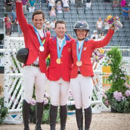 Andres Rodriguez (VEN), Mclain Ward (USA) and Lauren Hough (USA)