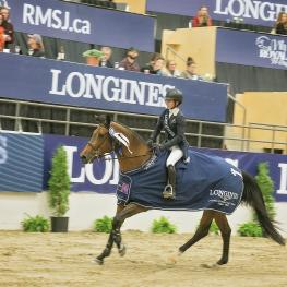 Longines FEI World Cup™ Jumping Calgary Winners Isabelle LAPIERRE and CESCHA M