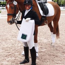 Jacquelynn Mackie and her horse Weltrubin 5 won the FEI Junior Individual test and received the last Everglades Dressage Rider Achievement Award of the 2016 season